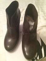 Nine west brown leather boots