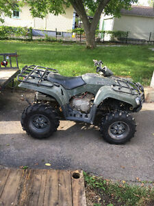 2008 Arctic Cat Quad with trailer