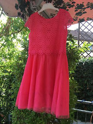 Kinder Kleid Rosa- Pink Farben, mit Strick Blumen Weste,Rücken mit Reisverschluß online kaufen