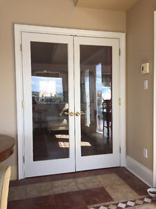 French Doors solid wood interior