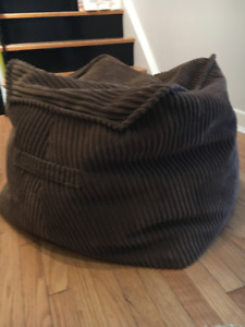 Funky,  70's-inspired Footstool or beanbag chair