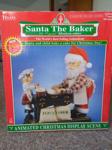 Vintage TELCO Motion-ettes of Christmas Animated Santa the Baker