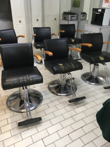 Hairstyling chairs