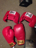 boxing gloves and 2 sets of headgear!