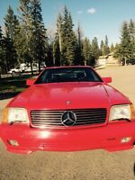 VERY RARE 1992 Mercedes SL320 Hard & Soft Top Convertible