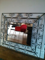 Two big mirror in black wrought iron