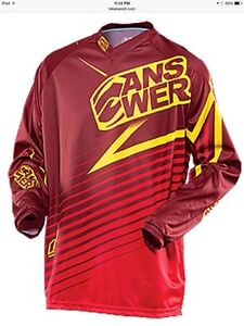 REDUCED: BRAND NEW ANSWER MX/ATV Red/Yellow Jersey: Men's L & XL