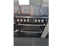 BELLING 60CM WIDE CEROMIC TOP ELECTRIC COOKER IN BLACK. H