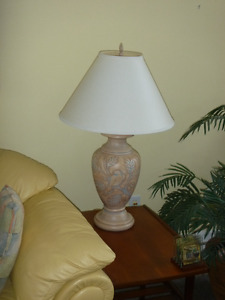 Contemporary TABLE LAMPS, pair
