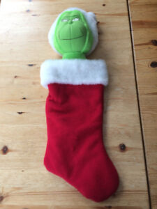 Dr Seuss Vintage Grinch stocking like new