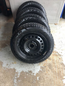4 205/55R16 Winter tires with Rims