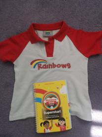 Rainbows t shirt and badge book