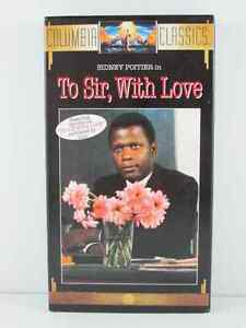 To Sir With Love with Sidney Poitier VHS Movie Vintage 1966