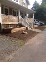 Landscaping, cement work, retaining walls, fences