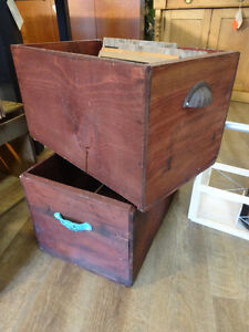 Vintage Apple Crates at The Old Attic