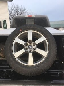 """20"""" painted aluminum factory ford rims with stock tires"""