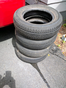 Free tires. Still some tread and don't leak.