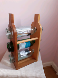 Wooden Table Top Wine Bottle Rack