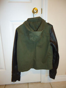 Urban Outfitters Faux Leather Sleeve  Jacket- Medium