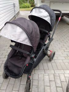 Double Stroller contour options double stroller