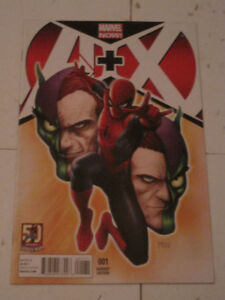 Marvel Comics A + X#1 Spider-Man Goblin variant cover comic book