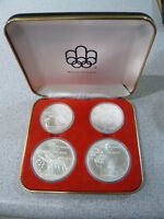 Rare!! 1976 Montreal Olympic Silver 4 Coin Set! Investment! WOW!