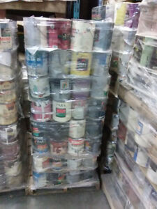 Job lot mixed residential type paint mixed skids pallets