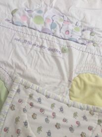 Beautiful 'Unusual Friends' cotbed bedding set with matching curtains and lightshade - by M&S