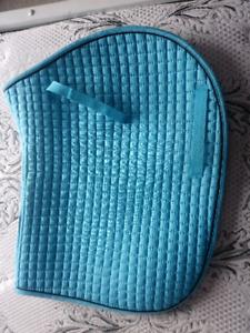 blue saddle pad