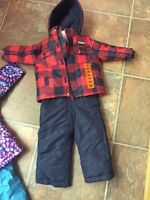 Carters 2t navy and red snow suit