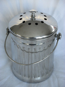 Stainless steel composter with filters