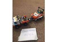 Lego joblot bundle city mission to Mars cars helicopter boat