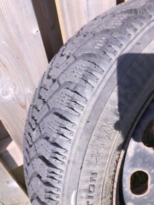 195/65R15 GOODYEAR NORDIC WINTER TIRES ON RIMS