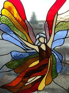 Stained glass pieces