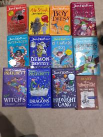 David Walliams,Terry Pratchett and Diary of the wimpy kid books