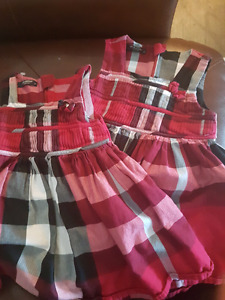 Baby and toddler burberry dresses. $30 each. Never worn.