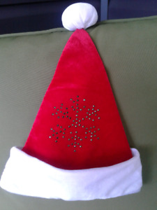 BRAND NEW CHRISTMAS HAT'S AND ONE STOCKING