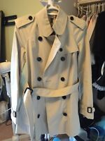 Burberry trench coat size 2