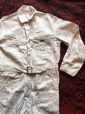 "Vintage Sears Roebucks Nationalls Coveralls Hercules Workwear White HBT 41"" Ches"