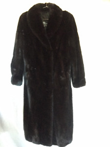 Ladies full length Black Ranch Mink Coat