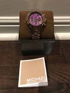 Authentic, Micheal Kors Silver/Rose Gold Watch