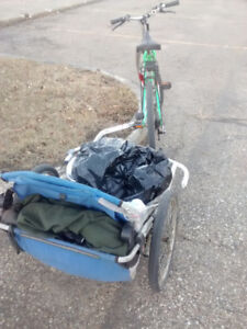 BIKE AND CART, WAS USED FOR BOTTLING WORKS EXC, SELL FOR 40$