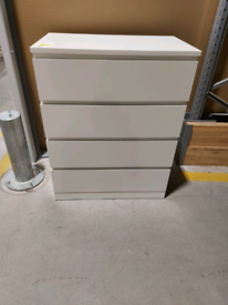 IKEA Sheffield MALM Chest of 4 drawers, white, 80x100 cm. #Bargaincorn