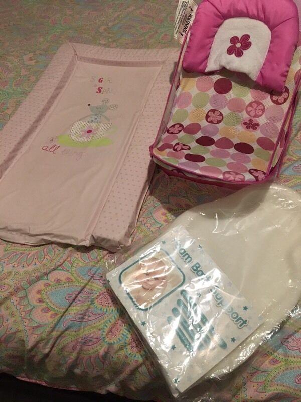 Baby girls bath seat - foam bath support - mat   in Childwall ...