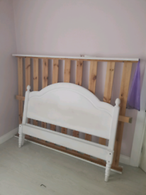 Double Bed Frame Solid Wood.