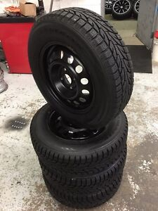 "14"" STEEL WHEELS 4x100 AND 185/70R14 WINTER TIRES"