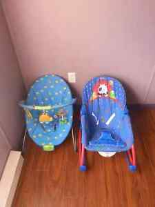 Baby bouncy chair and rocking chair
