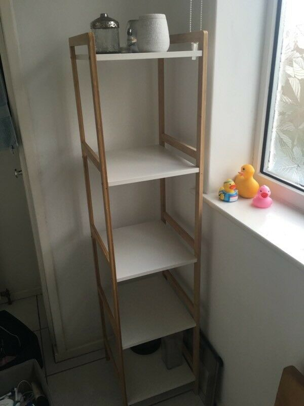 Bamboo Bathroom Shelving Unit