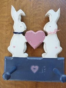 Bunnies Wood Wall Hooks