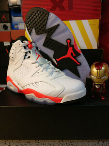 DS Nike AIR JORDAN 6 RETRO 'WHITE/INFRARED' size 10 Edmonton Edmonton Area image 1